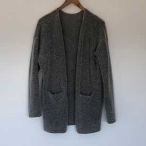 H&M Premium mohair long cardigan with pockets